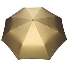 Elegant glänzend automatik Schirm Taschenschirm Regenschirm Umbrella, gold