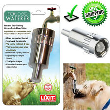 Outdoor Dog Faucet Waterer Garden Hoses Fresh Water Steel Nozzle Automatic New