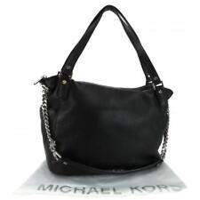 NEW! Michael Kors Chandler Leather Convertible Shoulder Bag-Black/Silver