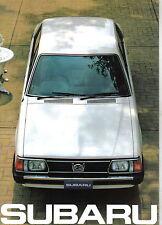 Subaru 1300 1600 1800 Saloon Estate 1981-82 Original UK Sales Brochure 82H.81.4E