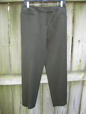 LAFAYETTE 148 SZ 6 WOOL BLEND DRESS TROUSERS OLIVE NEW WITHOUT TAGS