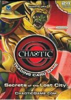 SECRETS OF THE LOST CITY Chaotic Trading Card Game STARTER DECK - Sealed