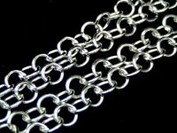 2 Metre's Silver Plated Rolo Chain 5mm x 5mm Links Craft Beads Jewellery S11