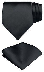 Herren Krawatte mit Einstecktuch  8cm breit Schlips Trendy Tie