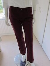 Womens maroon TOMMY HILFIGER avery trouser casual pants cotton Size 2