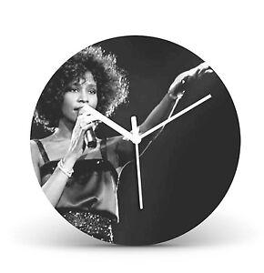 "Whitney Houston 12"" LP Vinyl Record Wall Clock Gift Modern Present Icon cl93"