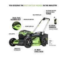 Greenworks Pro 60-Volt Max Lithium Ion Self-Prop 21-in Cordless Lawn Mower