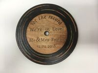 Laser Cut & Engraved Ply Wood Personalised Coaster Unique Gift Idea Wedding
