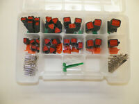 179 PC BLACK OEM DEUTSCH DT CONNECTOR KIT STAMPED CONTACTS + REMOVAL TOOLS