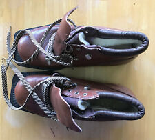 Womens Alfa Norway Brown Leather Cross Country Nordic Ski Boots 35