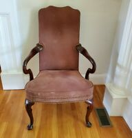 Vintage Hancock & Moore Georgian Traditional Style Chair Suede Local Pickup