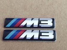 2X New 3D M M3 Badge Sport EMBLEM Logo Sticker Decal For E30 E36 E46 E90  X3 X5
