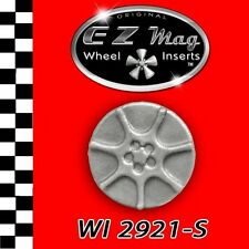 WI2921S Silver Seven Spoke Euro Style EZ Mag Wheel Inserts 1/24, 1/25 Slot Cars