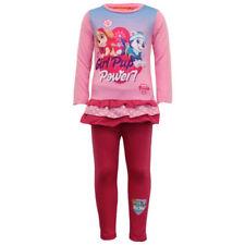 Pyjamas rose à manches longues pour fille de 5 à 6 ans