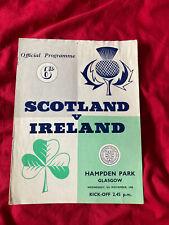 More details for 1958 scotland v ireland british home championship international programme