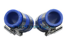 """High Temp Rubber Exhaust Clamps 1""""ID Blue For Yamaha Blaster YFS200 ATV 2 Pieces"""