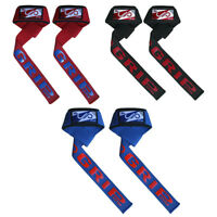 JP Padded Weight Lifting Training Gym Straps Hand Bar Wrist Support Gloves CA