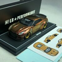 1/64 MINI GT-R LB WORKS Nissan GT-R R35 Duck Tail Chameleon Gold