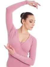 Capezio Women's Cross-Over Top Dusty Pink Ballet Dance szL BNWT (15)
