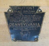 PPC PENNSYLVANIA PUMP & COMPRESSOR Co EASTON PA Old Industrial Nameplate Sm Sign