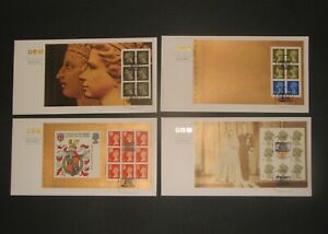 2000 ROYAL MAIL FDCs X 4 15th Feb Special by Design bklt panes Earls Court SHS