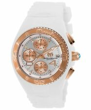 TechnoMarine Womens Cruise White Silicone Band Steel Case Quartz Watch TM-115362