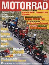 Motorrad 10/82 1982 Sachs RS 125 Hercules Ultra Benelli 654 Honda XL 500R XT 550