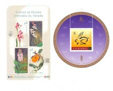 1999 Souvenir Sheets Orchids block and Lunar Year of the Rabbit