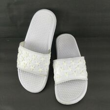 Nike Benassi JDI QS Star White Slip On Slides Comfort Casual Shoes Unisex Size 8