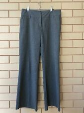 Cue Charcoal Grey Wool Blend Classic Corporate Workwear Trouser Pants Size 12