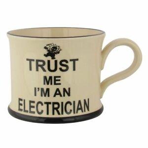 Moorland Pottery Trust Me I'm An Electrician Mug Birthday Christmas Gift Ideas
