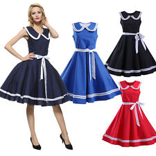 Womens Elegant Vintage Retro 50s 60s Rockabilly Pinup Party Cocktail Swing Dress
