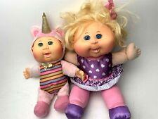"2 Cabbage Patch Kids Cuties Fantasy Friends /Plush Star Unicorn 12"" Doll"