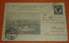 Australien Ganzsache 1898 v. Brisbane Queensland nach Bunzlau Schlesien gelaufen
