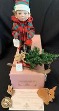 Lee Middleton Original Doll 1995 Christmas Angel Kisses Boy Doll #1452 Coa & Box