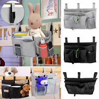 Bed Bedside Pocket Caddy Storage Organizer Pouch Sofa Hanging Bag Book Holder US