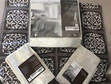 Hudson Park Natalya Light Tan Cotton Cashmere King Duvet Cover & 2 Sham $720-New
