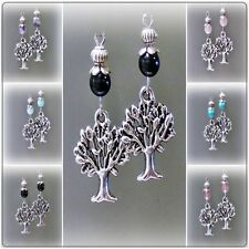 Stone Tibetan Silver Fashion Earrings