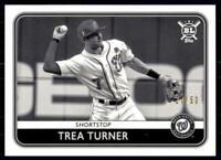 2020 Big League Base Black & White #86 Trea Turner /50 - Washington Nationals