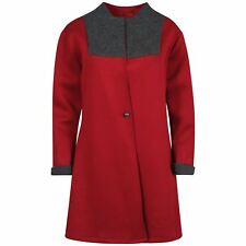 New Womens Plus size Long sleeve Military coats 16-22