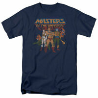 Masters of the Universe Team of Heroes T Shirt Mens Licensed Cartoon He-Man Navy