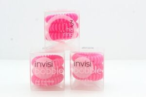 3x InvisiBobble The Traceless Hair Ring, 3 Count - Candy Pink (BNIB)