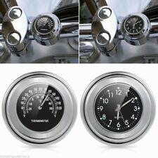 Motorcycle Bike Motorbike Chrome Waterproof Dial Handlebar Clock Mount Watch