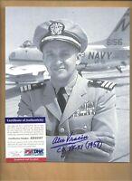"""PSA/DNA Alex Vraciu WW2 """"Triple Ace Pilot"""" Autographed 8 X 10 Picture Autograph"""
