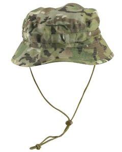 Kombat Short Brimmed Tailored Bush /Jungle hat in BTP Camo (MTP Compatible)