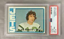 JOE 1972 100 TOPPS NAMATH JETS FOOTBALL NEW YORK CARD HOF PSA 8(OC)