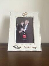 """RUSS Happy Anniversary Ceramic Photo Frame/Gift 4"""" x 6"""""""