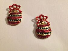 Christmas Ornament Earrings/Pierced