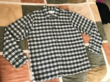 $205 Our Legacy grey gingham box flannel long sleeve shirt 52 mens NEW