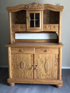 Antiker Küchenschrank Buffet 1900-1920 Pinie professionell restauriert Vintage